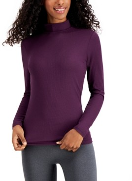 32 Degrees Base Layer Ribbed Mock-Neck Top
