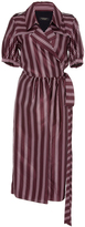 Burberry Panama Stripe Robe Dress
