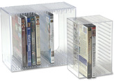 Container Store Acrylic CD & DVD Racks