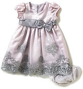 Bonnie Jean Bonnie Baby Girls Newborn-24 Months Embroidered-Tulle-Skirted Dress