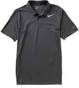 Nike Mobility Striped Jacquard Short-Sleeve Polo Shirt