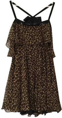 Saint Laurent Brown Silk Dress for Women