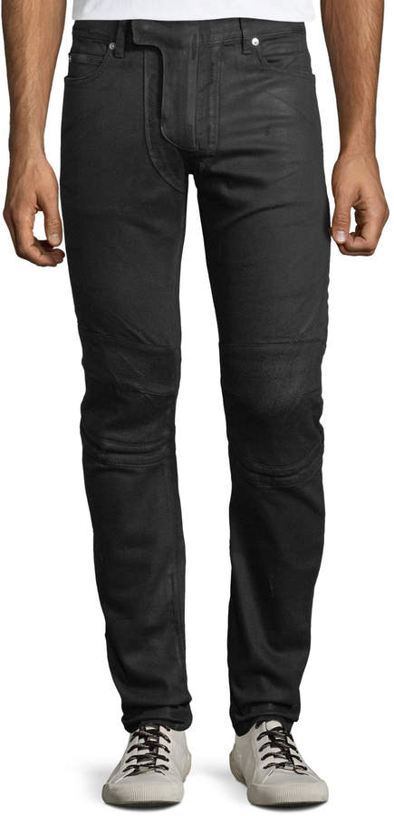 1616f66dfe8fa0 Waxed Black Mens Jeans - ShopStyle