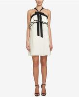 CeCe Charlotte Contrast Ruffle Halter Dress