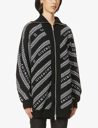 Givenchy Logo-pattern wool cardigan