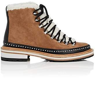 Rag & Bone Women's Compass Suede & Shearling Ankle Boots - Brown