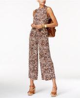 MICHAEL Michael Kors Cropped Leopard-Print Jumpsuit