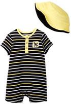Offspring Plane Romper & Hat Set (Baby Boys)
