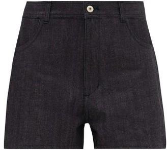 Jil Sander High-waist Denim Shorts - Dark Blue