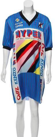 Kenzo Silk Graphic Dress w/ Tags