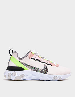 Nike React Element 55 Premium in Light Soft Pink/Atmosphere Grey-Black