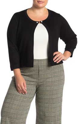 Nina Leonard 3/4 Sleeve Bolero Sweater (Plus Size)