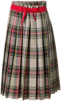 Sofie D'hoore pleated tartan skirt with bow
