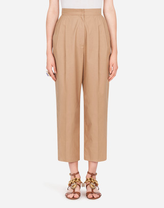 Dolce & Gabbana Cotton Pants With Heritage Buttons