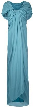 Paule Ka Long Draped Woven Dress