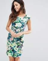 Louche Scoop Neck Floral Dress
