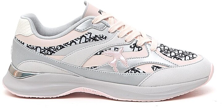 Pinko Luxury Fashion Womens Sneakers Winter Grey