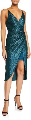 Jonathan Simkhai Sequined Cami Wrap Dress