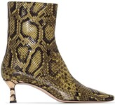 Wandler Bente 55mm python-effect leather ankle boots