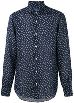 Barba floral print shirt - men - Linen/Flax - 42