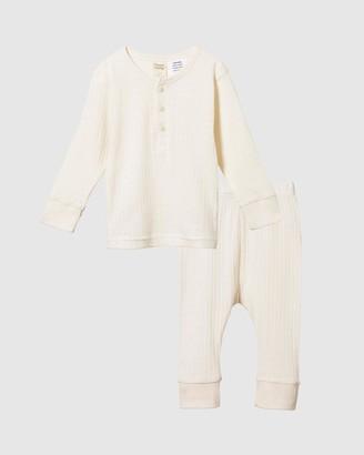 Nature Baby 2-Piece Long Sleeve Pointelle Pyjamas - Kids