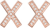 Thomas Sabo X 18ct rose gold-plated sterling silver zirconia earrings large