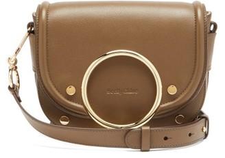 See by Chloe Mara Grained Leather Cross-body Bag - Khaki