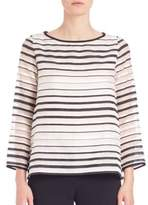 Goat Breton Organza-Striped Top