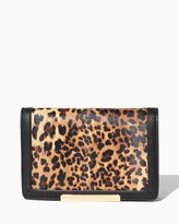 Charming charlie Katya Leopard Bar Clutch