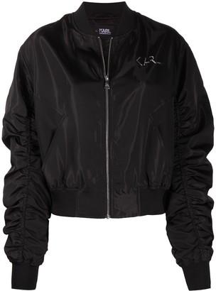 Karl Lagerfeld Paris Iridescent Bomber Jacket
