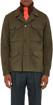 Paul Smith Men's Twill Cotton Safari Jacket-DARK GREEN