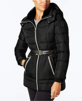 Vince Camuto Faux-Fur-Trim Belted Puffer Coat