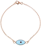 EYE M by Ileana Makri Light Blue Enamel Evil Eye Bracelet - Rose Gold