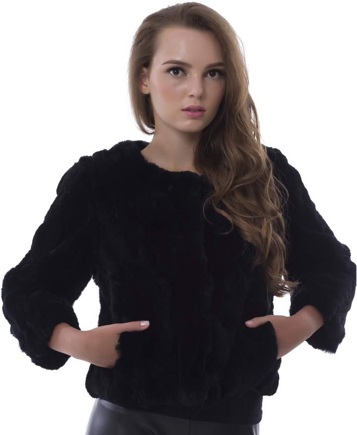 b53e1e5d2 Black Rabbit Fur Coat - ShopStyle Canada