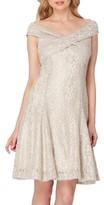 Tahari Petite Women's Lace Fit & Flare Dress