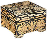 John Lewis Fusion Wooden Trinket Box, Black and Gold