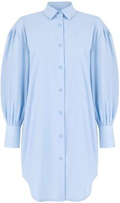 Monica Nera Reese Long-Sleeve Shirt Dress