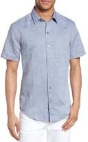 BOSS Men's Robbie Slim Fit Linen & Cotton Shirt