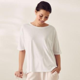 The White Company Oversized Lounge Pocket T-shirt, White, Extra Small
