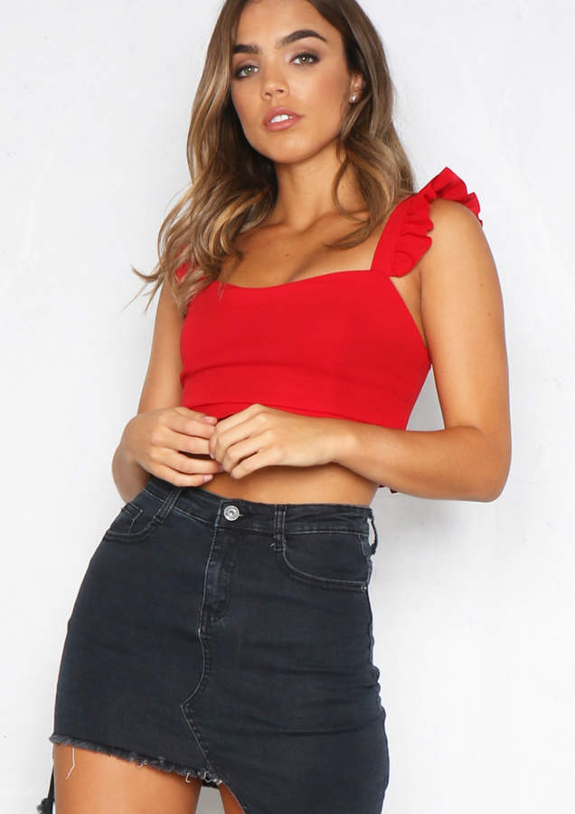 bd50cbf9de7eaa Missy Empire Red Sleeveless Tops For Women - ShopStyle UK