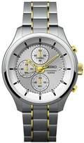 Seiko Gents Silver Dial Two tone Bracelet Watch