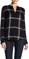 Lucky Brand Plaid Popover Blouse