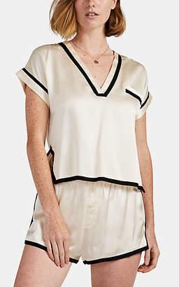 Morgan Lane Women's Yeva Silk Pajama Top - Cream