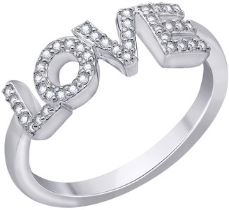 Peace Love World I Love Myself Ring, Sterling Silver