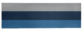 """Striped Lake Blue/Blue/Gray Area Rug East Urban Home Rug Size: Runner 2'6"""" x 8'"""