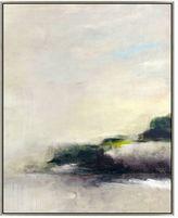 Pottery Barn Gray Evening Abstract Framed Canvas