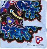 Mary Katrantzou heart flames print scarf