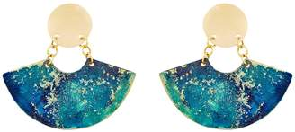 Design Studio Odell Fan Earrings - Twilight