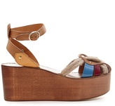 Etoile Isabel Marant Zelie rope and leather wedges