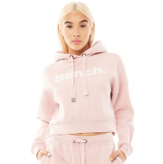 Bench Womens Class Cropped Hoodie Pale Pink